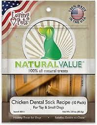 Dog Treats Natural Chicken Dental Sticks, 10-Count by Loving Pets