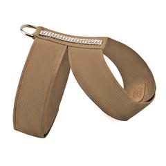 Luxury Dog Harness Beige Ultrasuede® Swarovski® Crystals