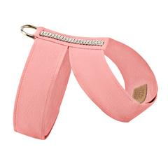 Luxury Dog Harness Peach Ultrasuede® Swarovski® Crystals