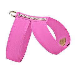 Luxury Dog Harness Sapphire Pink Ultrasuede® Swarovski® Crystals