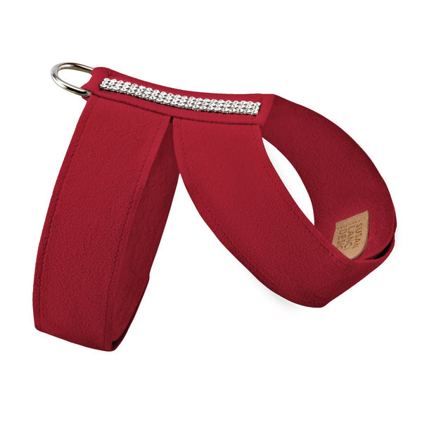 Luxury Dog Collar Bow Ultrasuede® Swarovski Crystal® Red