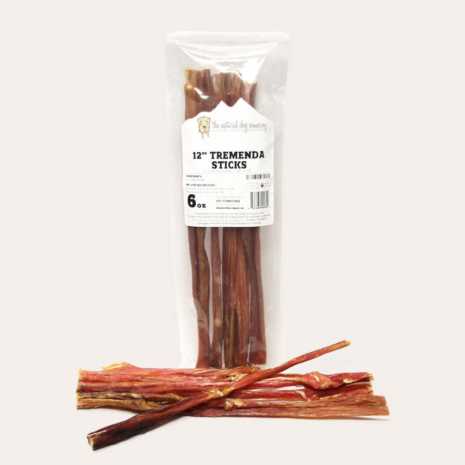 Bully Sticks Tremenda Dog Treat Chews by The Natural Dog Company