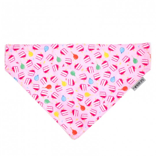 Dog Bandana Birthday Pink
