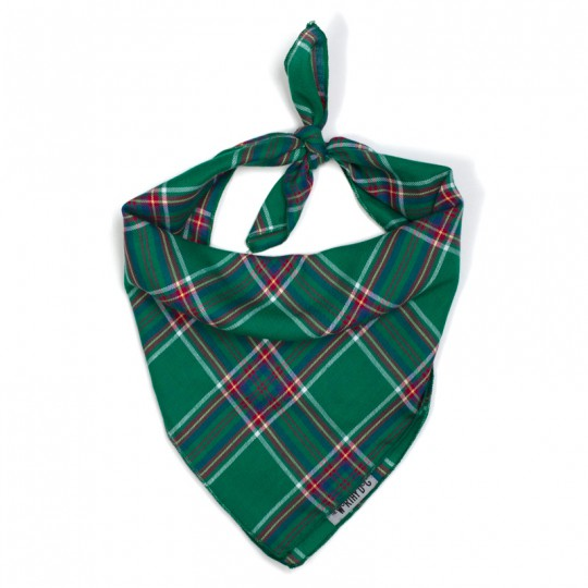 Dog Bandana Kelly Green Plaid