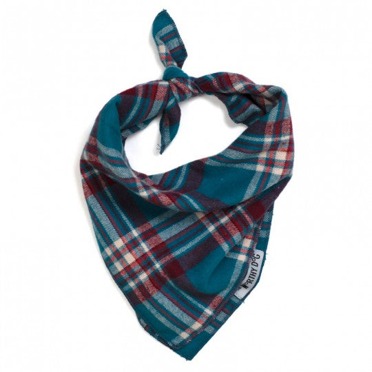 Dog Bandana Teal Plaid