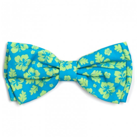 Dog Bow Tie Aloha Turquoise Collar Attachment