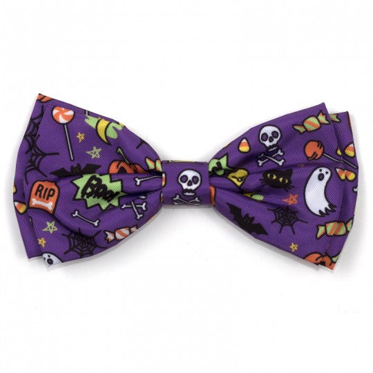 Dog Bow Tie Halloween Fright Night Collar Attachment