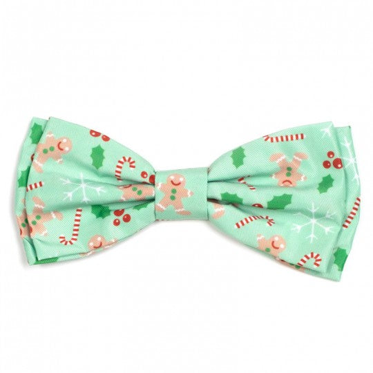 Dog Bow Tie Holiday Gingerbread Collar Attachment