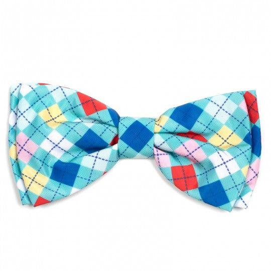 Dog Bow Tie Argyle Collar Attachment