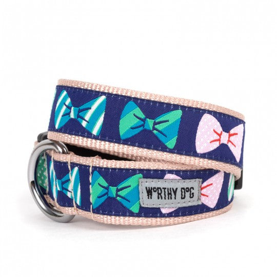 Dog Collar Bow Ties Pink Blue