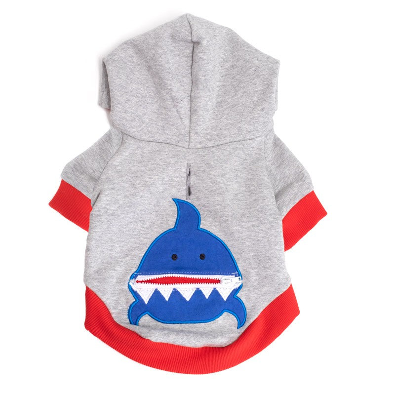 Dog Shark Hoodie Shirt by The Worthy Dog