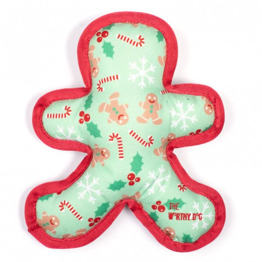 Dog Toy Christmas Gingerbread Man