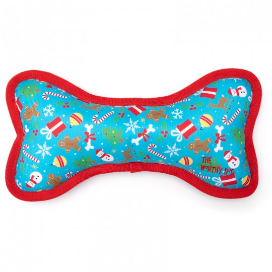 Dog Toy Christmas Winter Holiday Bone