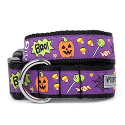 Halloween Dog Collar Boo Pumpkin Candy