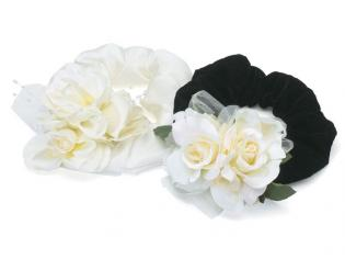 Wedding Dog Collar Rose Ruff Rings