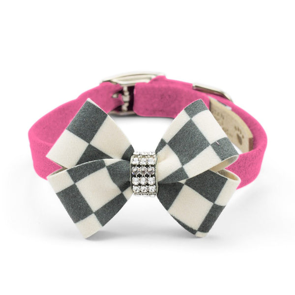 Windsor Check Nouveau Bow Collar perfect pink