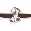Windsor Check Nouveau Bow Leash chocolate