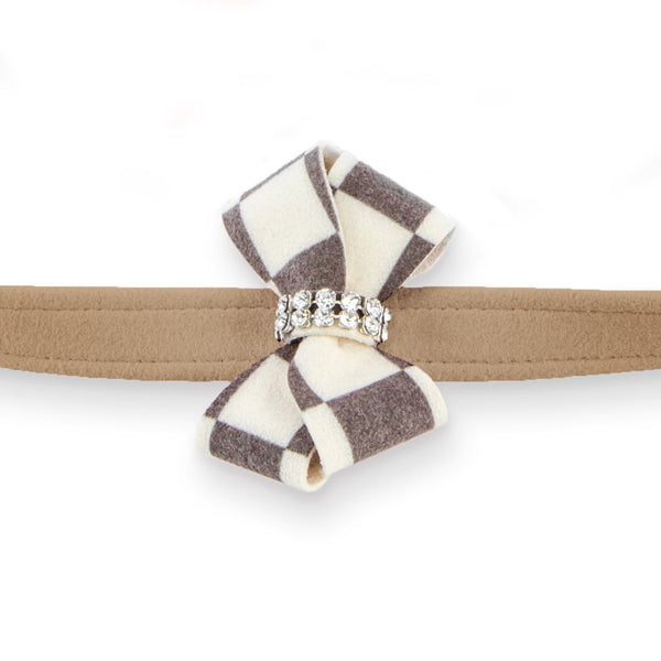Windsor Check Nouveau Bow Leash fawn