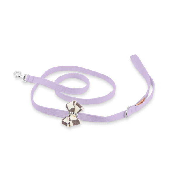 Windsor Check Nouveau Bow Leash french lavender