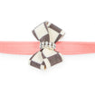 Windsor Check Nouveau Bow Leash peaches and cream