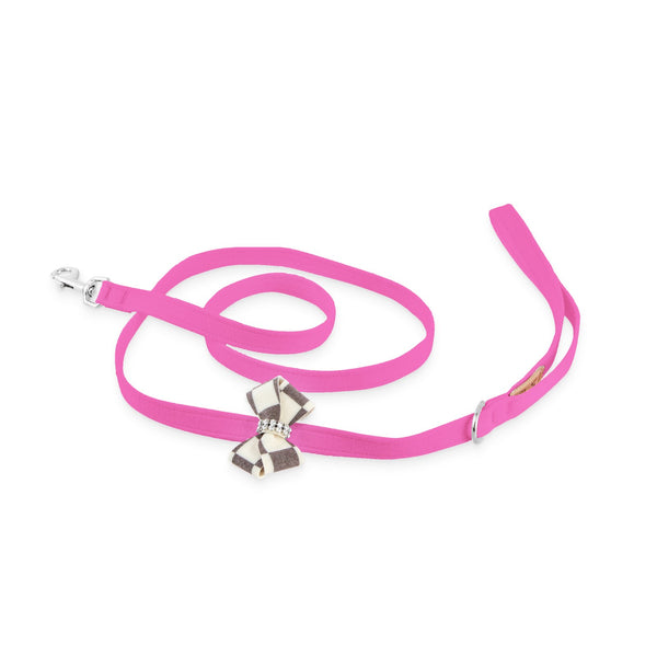 Windsor Check Nouveau Bow Leash pink sapphire