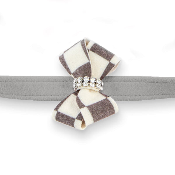 Windsor Check Nouveau Bow Leash platinum