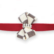 Windsor Check Nouveau Bow Leash red
