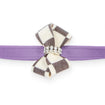 Windsor Check Nouveau Bow ultraviolet