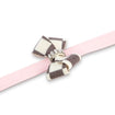 Windsor Check Nouveau Bow Leash puppy pink
