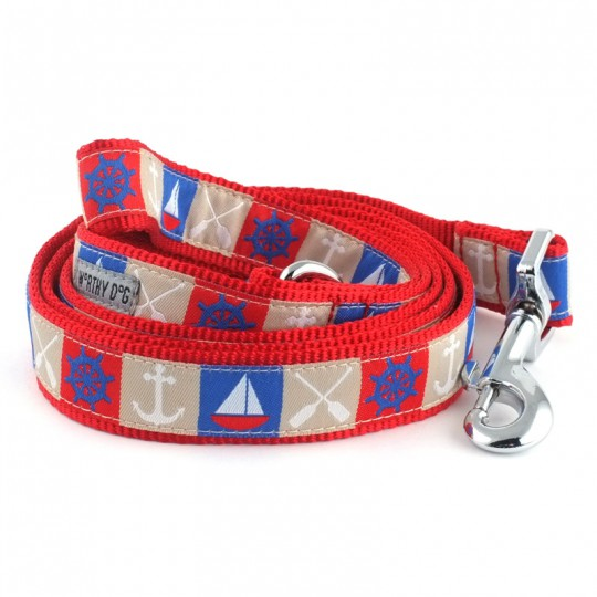 Dog Leash Anchors Boats Red Blue