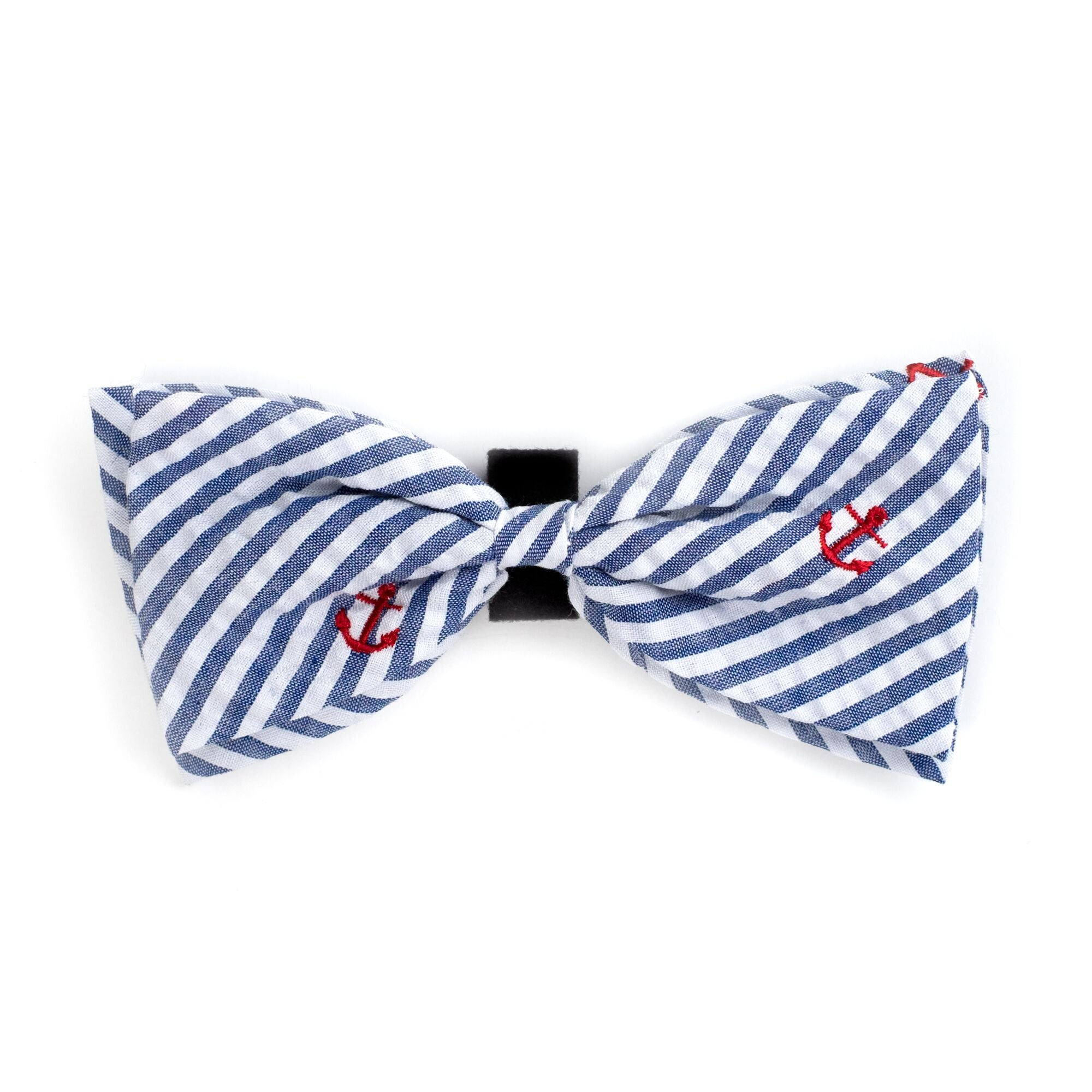 Nautical Anchor Dog Collar Attachment Bow Tie Red White Blue Small & Large
