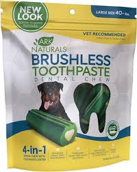 Ark Naturals Brushless Toothpaste Dental Dog Chews Large