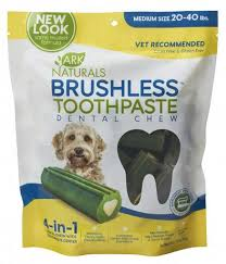 Ark Naturals Brushless Toothpaste Dental Medium Dog Chews, 12oz-Bag