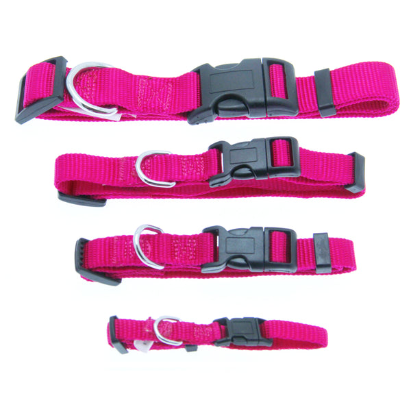 Barking Basics Dog Collar Dark Pink Small