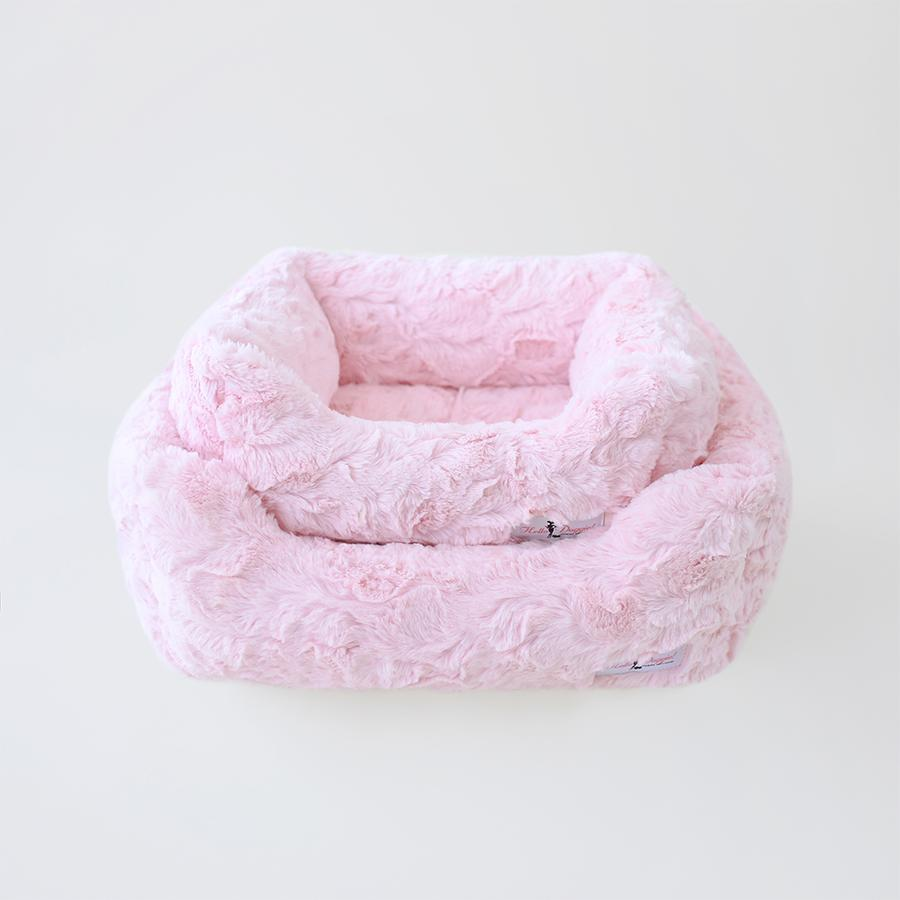 Luxury Dog Bed Plush Pink