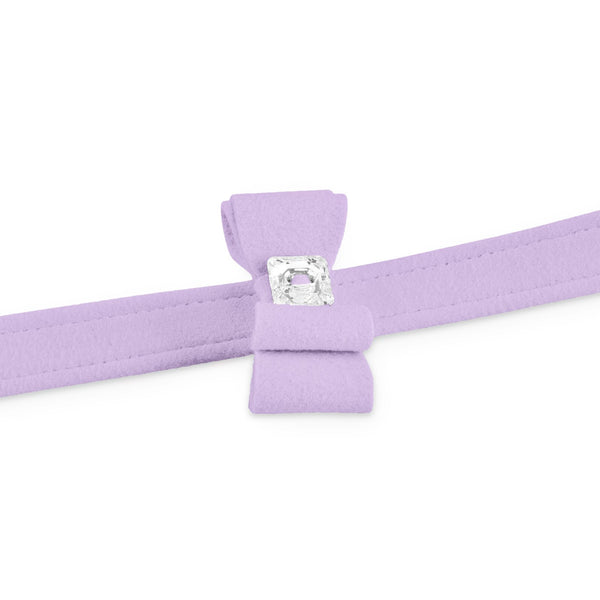 big bow leash french lavender