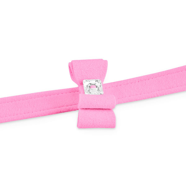 big bow leash perfect pink
