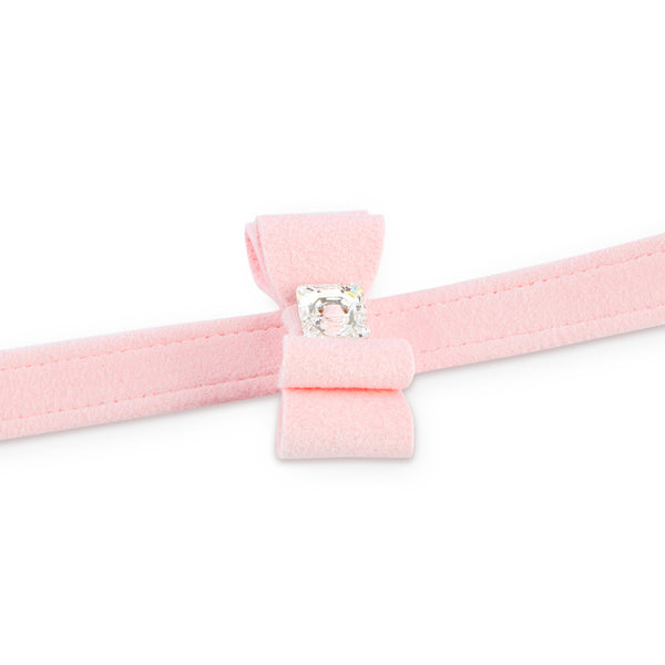 big bow leash pink