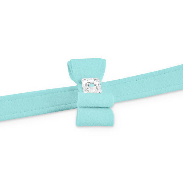 big bow leash tiffi blue