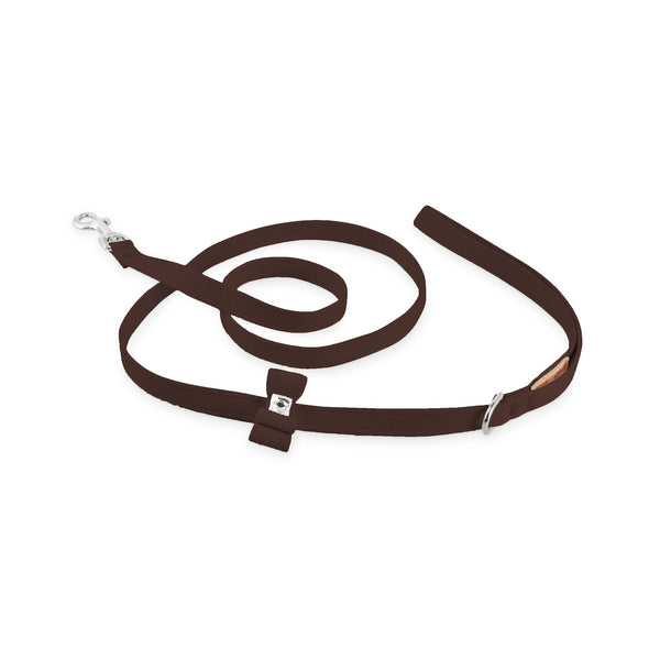big bow leash chocolate