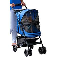 Pet Gear Happy Trails No-Zip Dog Stroller Blue