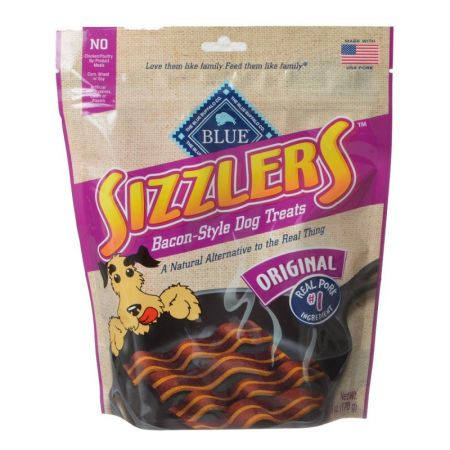 Blue Buffalo Sizzlers Bacon-Style Dog Treats 100% Natural