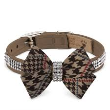 Luxury Dog Collar Brown Couture Swarovski® Crystals Ultrasuede®