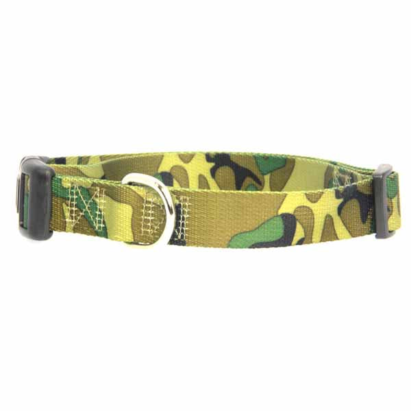 Dog Collar Green Camo Large