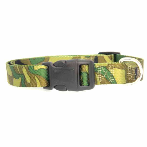 Camo Green Dog Collar Green Large