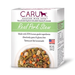 Caru Real Pork Stew Human-Grade Puppy & Dog Food 12.5 oz