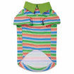 Dog Polo Striped Shirt Hawaiian Breeze with UPF 40 by Casual Canine Small, Medium
