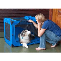 Dog Deluxe Soft Crate Medium Blue