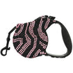 Parisian Pet Crystal Zebra Pink Retractable Dog Leash