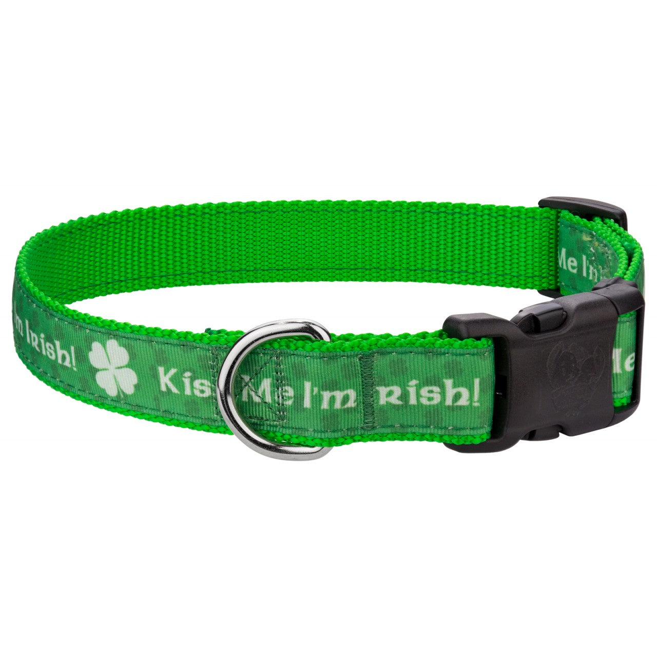 Dog Collar St. Patrick's Day Medium, Large, X-Large